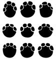 footprints of elephants vector image vector image