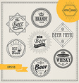 alcohol logos and emblems vector image