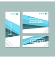 brochure poster minimalistic design vector image