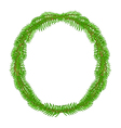 Christmas decoration wreath round Frame vector image