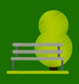 flat icon in shading style bench in park vector image