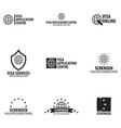 logo of visa application centre vector image