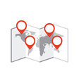 map location vector image