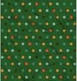 Retro polka dot pattern on green background vector image
