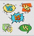 versus logo sign set vector image