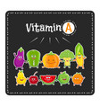 vitamin a vegetables and fruits healthy food vector image