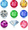 Colored gems vector image
