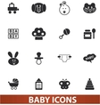 baby icons set for web and design vector image vector image
