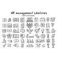 Doodle staff recruitment elements collection vector image