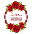 round frame with roses vector image