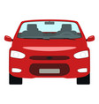 cartoon red car cabriolet front view vector image