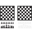 Chess board and pieces vector image vector image