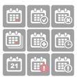 Calendar Icons event add delete progress vector image