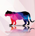 Geometric polygonal leopard pattern design vector image vector image
