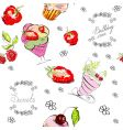 seamless with sweets vector image vector image