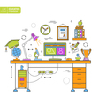 Online Education Process vector image vector image
