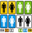 male and female restrooms sign vector image vector image