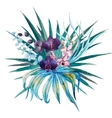 Tropical floral composition vector image