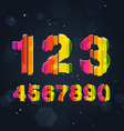 Abstract Rainbow Numbers vector image vector image