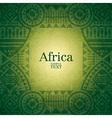 African background design vector image
