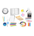 Back to school supples group set vector image