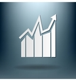 chart diagram figure business icon vector image