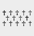 cross logo religion crucifixion church vector image