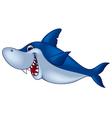 Smiling shark cartoon vector image