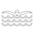 Swimmer icon simple style vector image