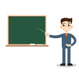 Teacher man on lesson vector image