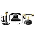 vintage telephones vector image