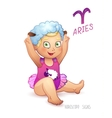 Zodiac sign Aries Horoscope Sign Aries Babygirl vector image
