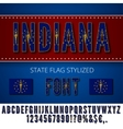 USA state font vector image