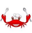 Crab chef cartoon vector image vector image