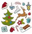 Winter set for design vector image