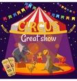 Great circus show concept cartoon style vector image