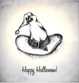 Witches hat in a sketch style vector image vector image