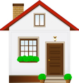 isolated country house vector image vector image