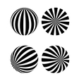 A black and white sphere vector image vector image
