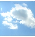 cloudy sky background vector vector image vector image