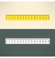 realistic ruler tool Education and office vector image
