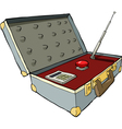 nuclear suitcase vector image