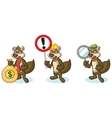 Brown Polecat Mascot with sign vector image