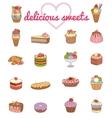 9 Delicious Dessert set - vector image