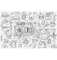 A large set of hand-drawn doodles back to vector image