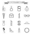 Beauty big icon set vector image