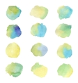 Colorful watercolor splashes isolated on white vector image