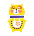 cute cartoon yellow teddy bear standing funny vector image