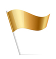 Gold flag vector image