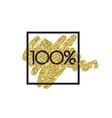 gold sale 100 percent shine salling background vector image